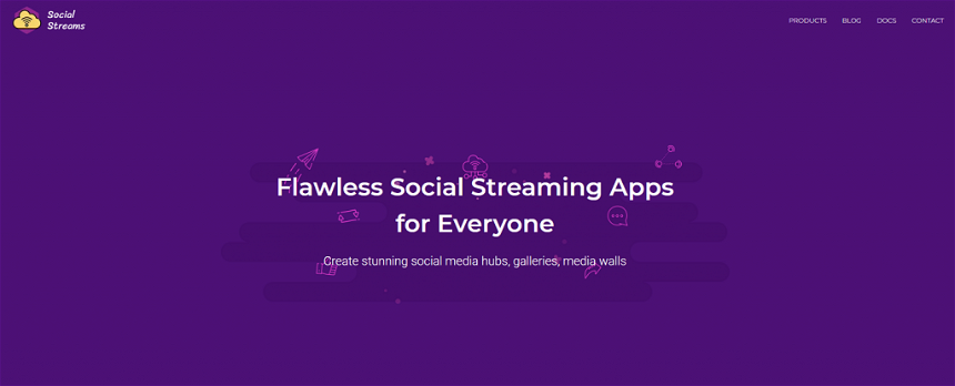 Social Streams aggregator for Twitter posts