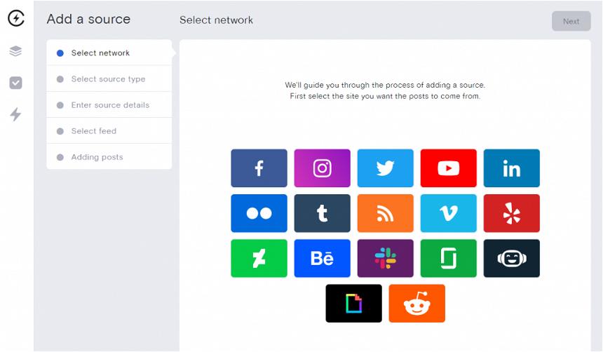 Select social media network